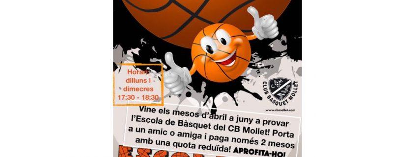 Escola de basquet promocio Abril - Juny 2018