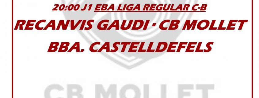 Jornada 1 22 de setembre lliga EBA
