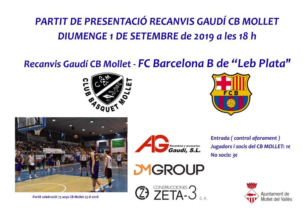 Partit CB Mollet vs FC Barcelona B